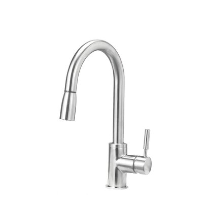 Sonama Single Handle Deck Mounted Kitchen Faucet with Dual Pull Down Spray Product Photo