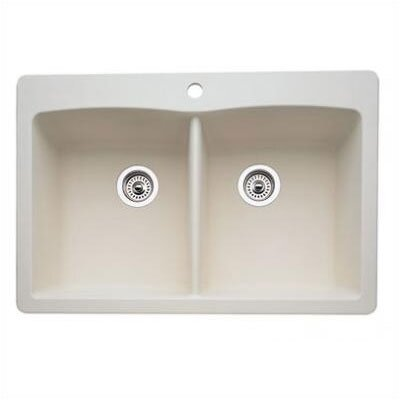 """Diamond 33"""" x 22"""" Equal Double Bowl Drop-In Kitchen Sink Product Photo"""