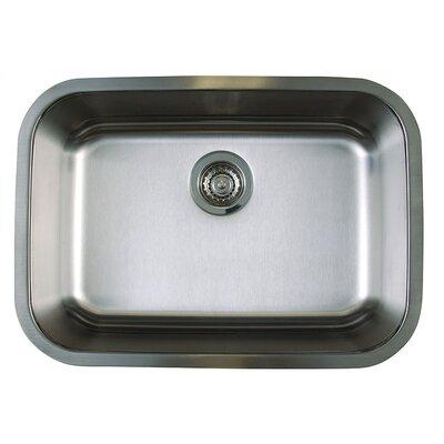 "Stellar 25"" x 18"" Medium Single Bowl Undermount Kitchen Sink Product Photo"