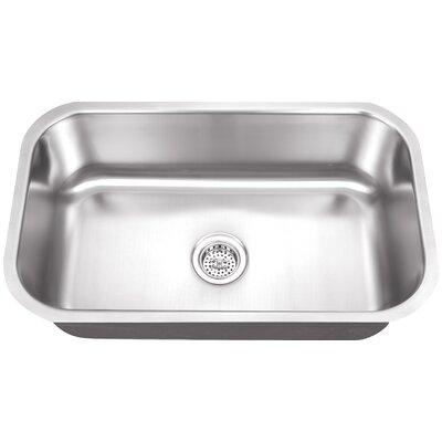 "30"" x 19"" Single Bowl Kitchen Sink Product Photo"
