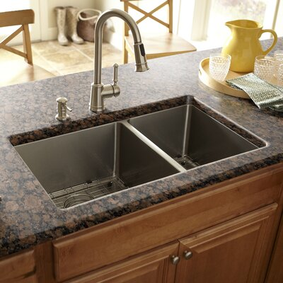 "30"" x 17"" Double Bowl Kitchen Sink Product Photo"