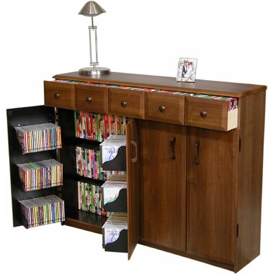 VHZ Entertainment Multimedia Cabinet with Library Style Drawers by Venture Horizon