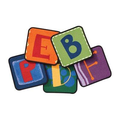Carpets for Kids Toddler Alphabet Blocks Squares Primary Area Rug
