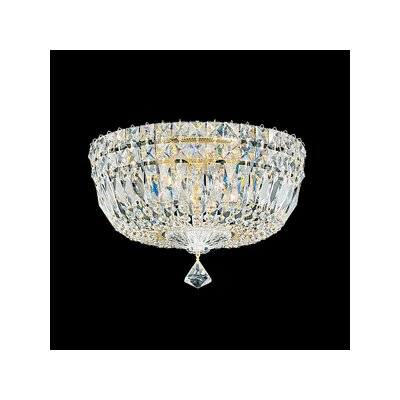 Schonbek Petit Crystal Deluxe 5 Light Flush Mount