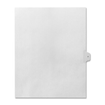 Kleer-Fax, Inc. Numerical Index Dividers, Exhibit 16, Letter, 10/BX White