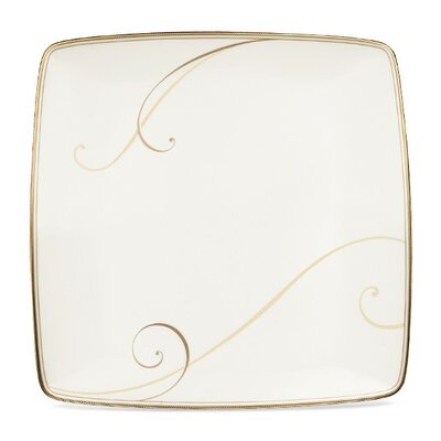 "Noritake Golden Wave 10.25"" Large Square Accent Plate"