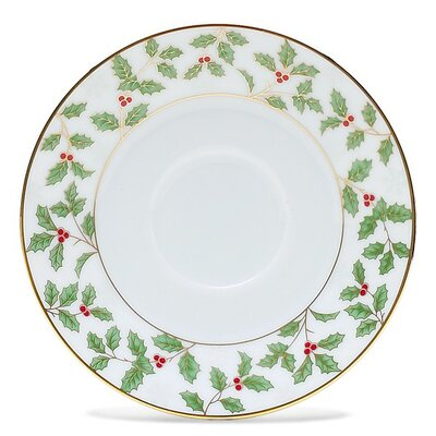 """Noritake Holly and Berry Gold 6"""" Saucer"""