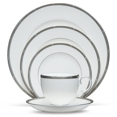 Rochelle Platinum 5 Piece Place Setting by Noritake
