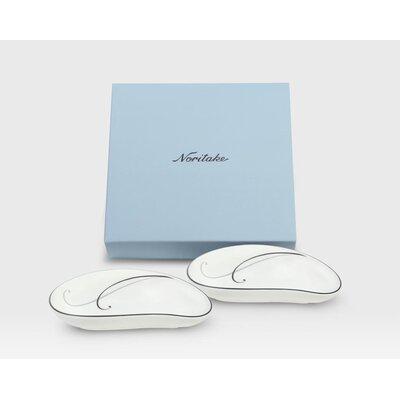"Noritake Platinum 6"" Teardrop Small Dish"