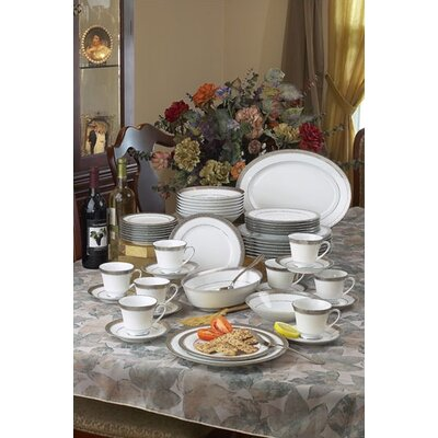 Crestwood Platinum Dinnerware Collection by Noritake