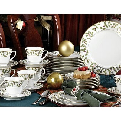Holly and Berry Gold Dinnerware Collection by Noritake