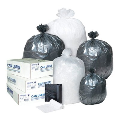 Inteplast Group 33 Gallon High Density Can Liner, 16 Micron in Black