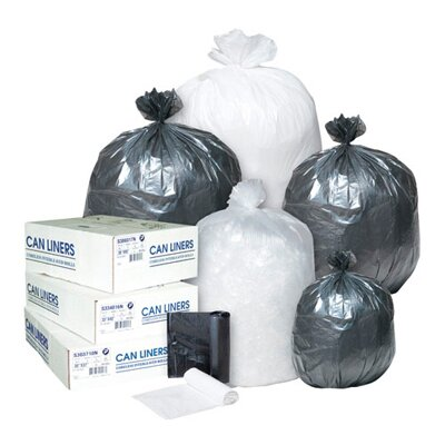 Inteplast Group 33 Gallon High Density Can Liner, 16 Micron in Clear