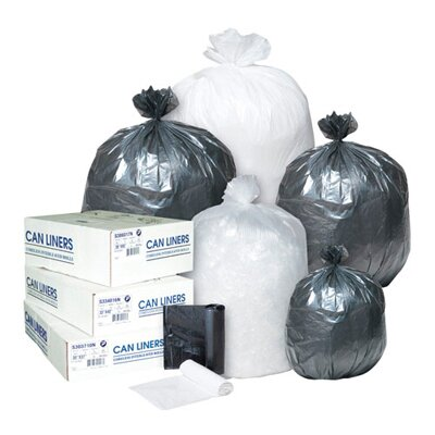 Inteplast Group 45 Gallon High Density Can Liner, 17 Micron in Clear