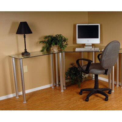Corner Computer Desk with Modular Extension by RTA Home And Office