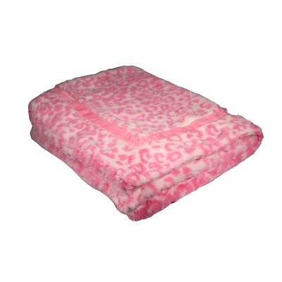 Cheetah Mink Trundle Dog Blanket in Pink by Hip Doggie