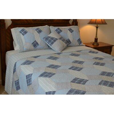 Bonnie Patchwork Reversible Quilt-Standard Sham by J&J Bedding