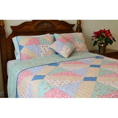 Angie Patchwork Reversible Quilt-Standard Sham by J&J Bedding