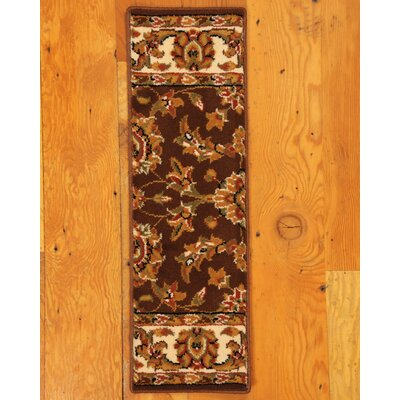 Sydney Chocolate Classic Persian Stair Tread by Natural Area Rugs