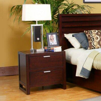 Alpine Furniture Urban 2 Drawer Nightstand