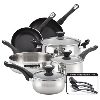 New Traditions Stainless Steel 12-Piece Cookware Set by Farberware