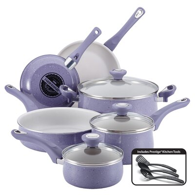 Ceramic Cookware 12 Piece Cookware Set by Farberware