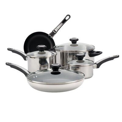 High Performance Stainless Steel 12 Piece Cookware Set by Farberware
