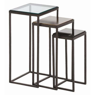 Knight Waxed Hammered 3 Piece Nesting Table by ARTERIORS Home