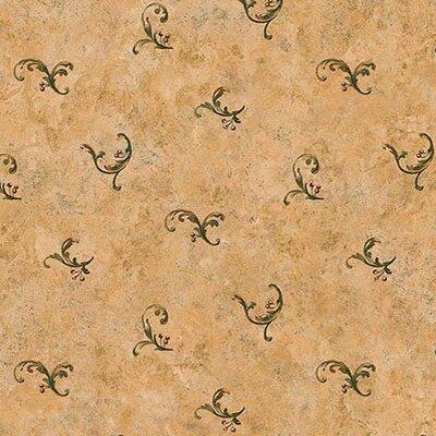 """4 Walls Lodge Décor 33' x 20.5"""" Berry Toss Scroll Wallpaper"""