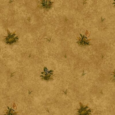 "4 Walls Lodge Décor 33' x 20.5"" Woodland Toss Floral Botanical Wallpaper"