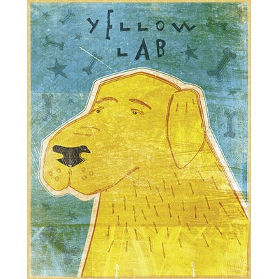 4 Walls Top Dog Yellow Lab Wall Mural
