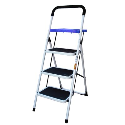 Buffalo Tools AmeriHome 4-Step Steel Step Ladder with 300 lb. Load Capacity