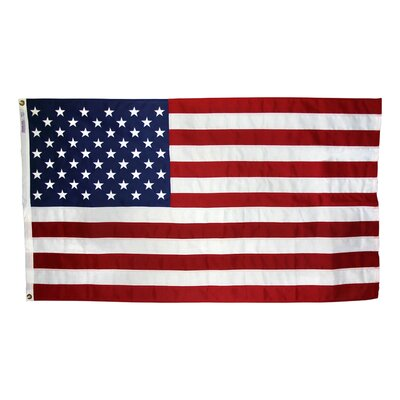 Annin Flagmakers Tough-Tex Woven Traditional US Flag