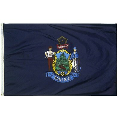 Annin Flagmakers Maine State Flag