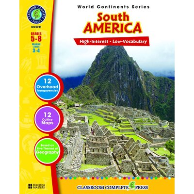 Classroom Complete Press World Continents Series South Book