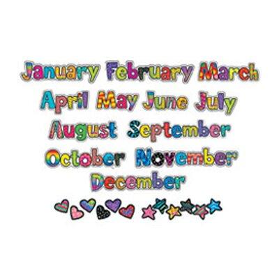 Creative Teaching Press Poppin Patterns 12-Months Headlines Calendar Accessories