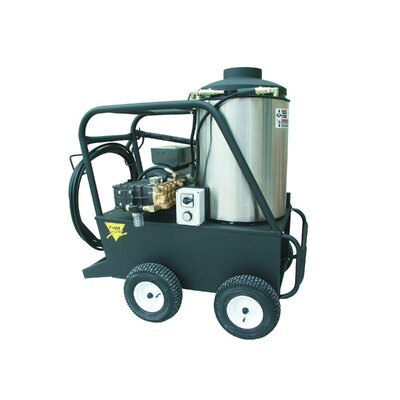 Q Series 3000 PSI Hot Water Electric Pressure Washer with 5.0 GPM by Cam Spray ...