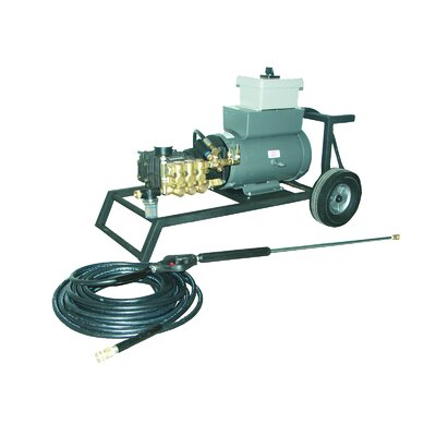 2000 PSI Cold Water Electric Tube Cart Pressure Washer with 10 HP Engine by Cam ...