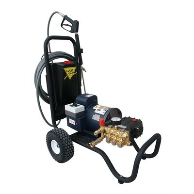 2000 PSI Cold Water Electric Tube Cart Pressure Washer with 5 HP Engine by Cam ...