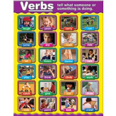 Frank Schaffer Publications/Carson Dellosa Publications Verbs Photographic Chart