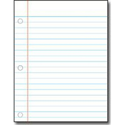 Frank Schaffer Publications/Carson Dellosa Publications Notebook Paper Chart