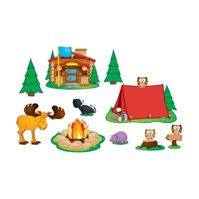 Frank Schaffer Publications/Carson Dellosa Publications Camping Bulletin Board Cut Out Set