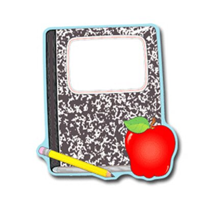 Frank Schaffer Publications/Carson Dellosa Publications Composition Book And Apple Notepad