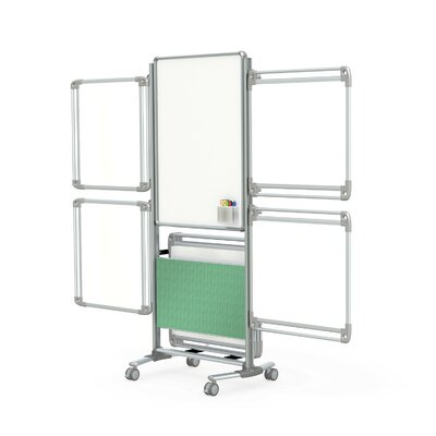 Ghent Nexus Mobile Magnetic Whiteboard, 6' x 3'