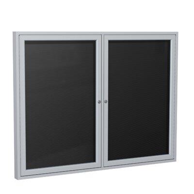 Ghent 2-Door Aluminum Frame Enclosed Vinyl Letter Board
