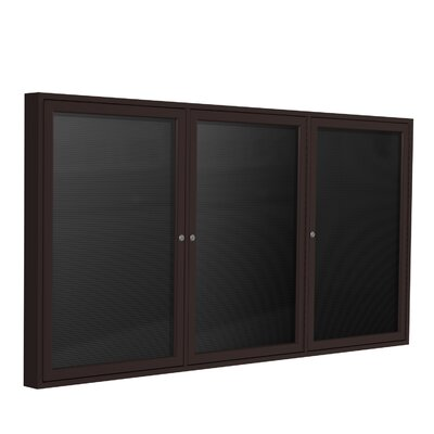 Ghent 3 Door Aluminum Frame Enclosed Letter Board