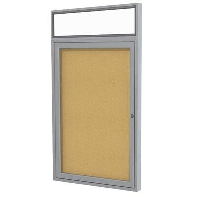 Ghent 1 Door Enclosed Bulletin Board, 3' x 3'