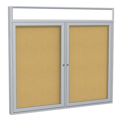 Ghent 2-Door Aluminum Frame Enclosed Bulletin Board