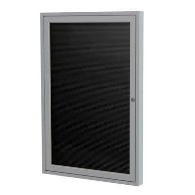 Ghent 1-Door Aluminum Frame Enclosed Flannel Letter Board, 3' x 3'