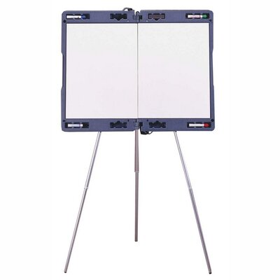 """Ghent Portable Presentation Easel, Extends 23-1/2""""x35-1/2"""", Gray"""